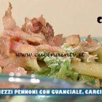 La Prova del Cuoco - ricetta Mezzi pennoni con guanciale carciofi e pecorino di Anna Maria Palma
