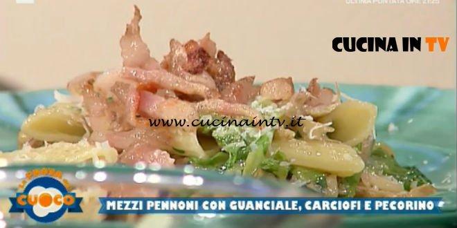 La Prova del Cuoco | Mezzi pennoni con guanciale carciofi e pecorino ricetta Anna Maria Palma