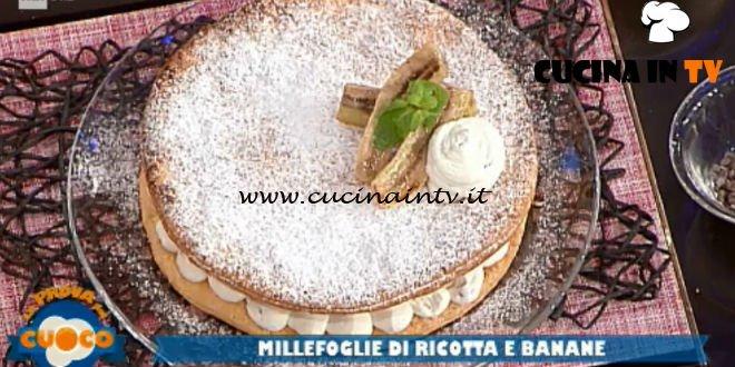 La Prova del Cuoco - ricetta Millefoglie di ricotta e banane di Diego Bongiovanni