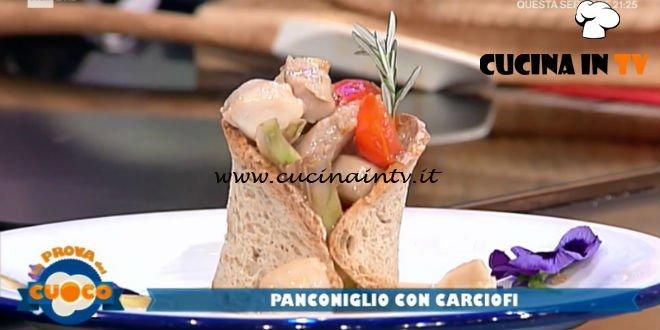 La Prova del Cuoco | Panconiglio con carciofi ricetta Emanuele Vallini