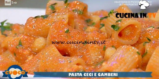 La Prova del Cuoco - ricetta Pasta ceci e gamberi di Fabio Campoli