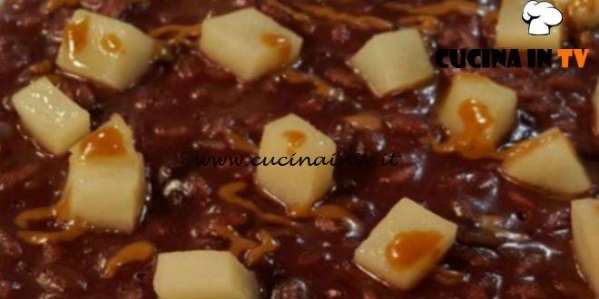 Cotto e Mangiato | Risotto all'amarone pasta di nocciole e topinambur fondenti ricetta Giancarlo Perbellini