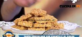 La Prova del Cuoco | Sbrisolona con crema chantilly al cacao ricetta Clara Zani