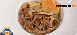 La Prova del Cuoco - ricetta Tagliolini ai porcini in salsa boscaiola di Riccardo Carnevali