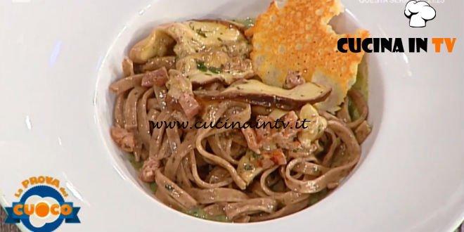 La Prova del Cuoco | Tagliolini ai porcini in salsa boscaiola ricetta Riccardo Carnevali