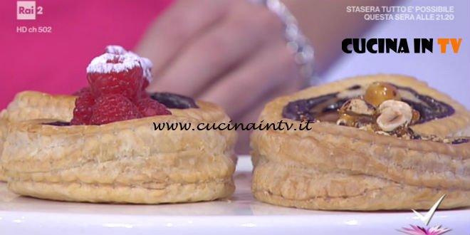 Detto Fatto - ricetta Tortini di sfoglia ai due cioccolati di Michel Paquier