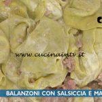 La Prova del Cuoco - ricetta Balanzoni con salsiccia e mascarpone di Alessandra Spisni