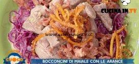 La Prova del Cuoco - ricetta Bocconcini di maiale con zeste di arancia caramellate e riduzione di succo di arancia di Anna Maria Palma