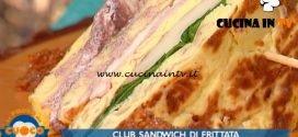 La Prova del Cuoco - ricetta Club sandwich di frittata di Marco Claroni