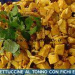 La Prova del Cuoco - ricetta Fettuccine al tonno con fichi e curcuma di Diego Bongiovanni