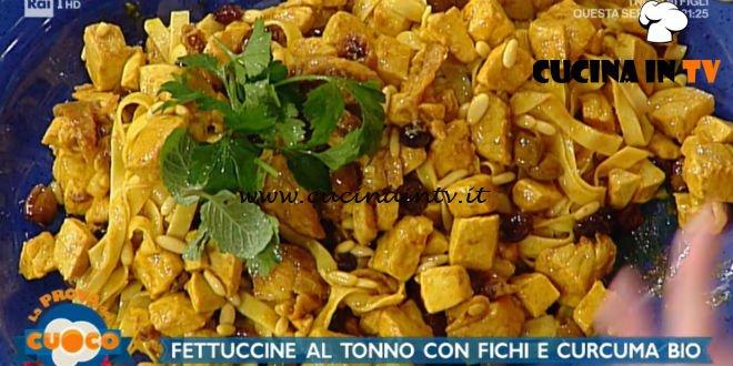 La Prova del Cuoco | Fettuccine al tonno con fichi e curcuma ricetta Diego Bongiovanni