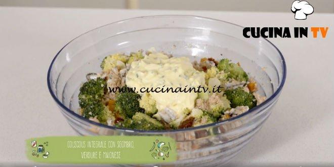 Il gusto della felicità ricette Marco Bianchi Cous cous integrale con alici verdure e maionese