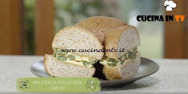 Il gusto della felicità - ricetta Panino di segale con frittata alle verdure e senape dolce di Marco Bianchi