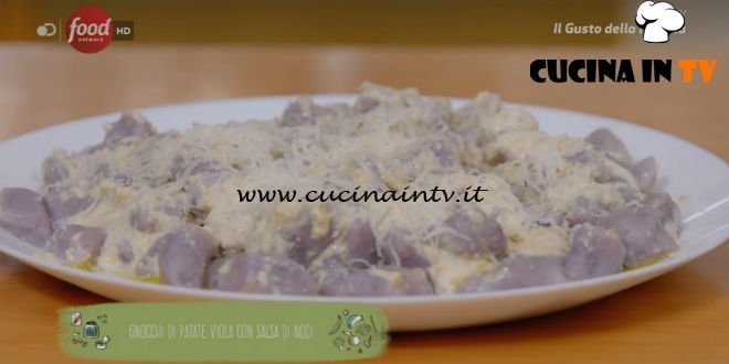 Gnocchi di patate viola con salsa di noci ricetta Marco Bianchi