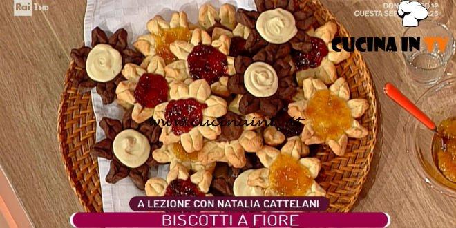 La Prova del Cuoco - ricetta Biscotti a fiore di Natalia Cattelani