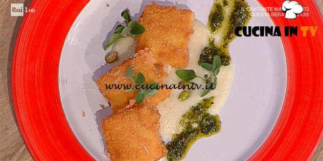 La Prova del Cuoco | Formaggio di capra croccante su topinambur ricetta Fabrizio Sepe