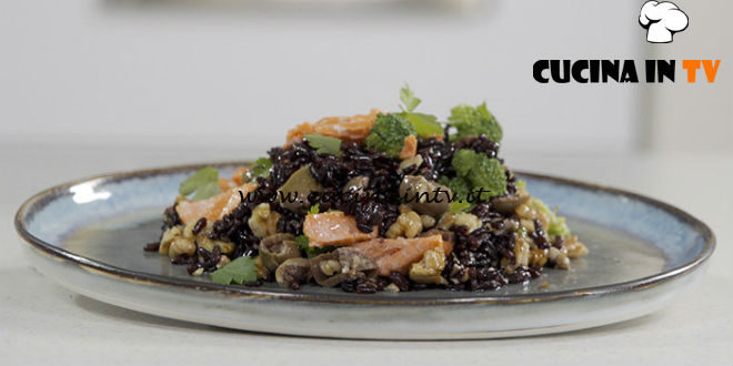 Il gusto della felicità | Riso nero con salmone ricetta Marco Bianchi