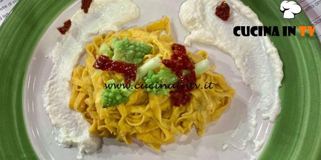 La Prova del Cuoco   Tagliolini con broccolo e stracciatella ricetta Martino Scarpa