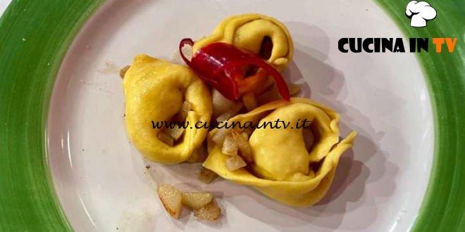 La Prova del Cuoco - ricetta Tortelli cacio e pepe di Riccardo Facchini