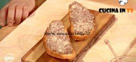 Geo | Crostone con salsiccia e pecorino ricetta Riccardo Giulietti