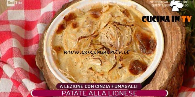 La Prova del Cuoco - ricetta Patate alla lionese di Cinzia Fumagalli