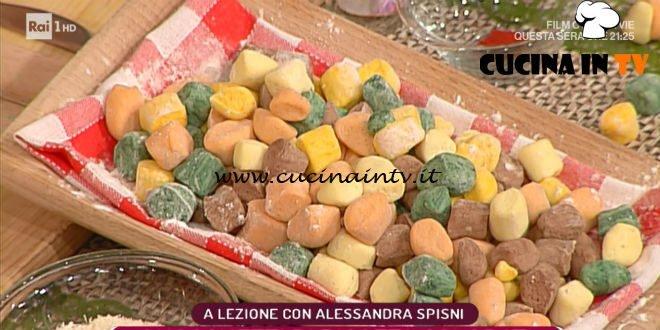 La Prova del Cuoco - ricetta Gnocchetti di ricotta colorati di Alessandra Spisni
