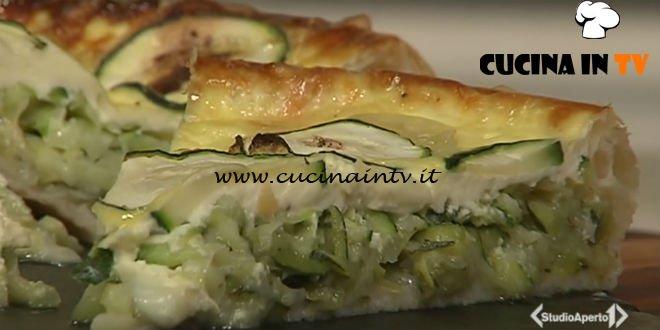 Cotto e mangiato - Quiche di zucchine cipollotti e tomini ricetta Tessa Gelisio