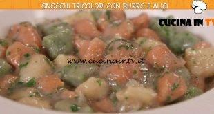 Ricette all'italiana - ricetta Gnocchi tricolori con burro e alici di Anna Moroni