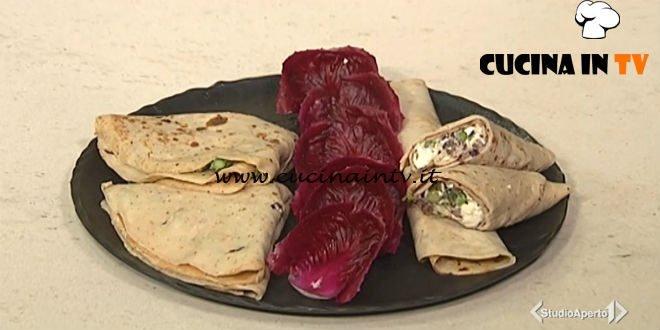 Cotto e mangiato - Crespelle con asparagi noci e radicchio ricetta Tessa Gelisio