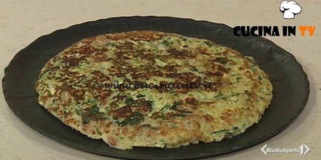 Cotto e mangiato - Frittata di cipollotti zucchine e spinacini ricetta Tessa Gelisio