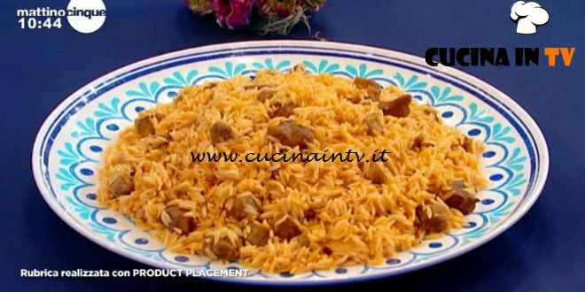 Mattino Cinque - ricetta Agnello ghiuvetsi di Samya