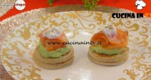Mattino Cinque - ricetta Blinis con mousse di avocado e salmone di Samya
