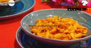 Mattino Cinque - ricetta Garganelli alla crema di peperoni di Samya