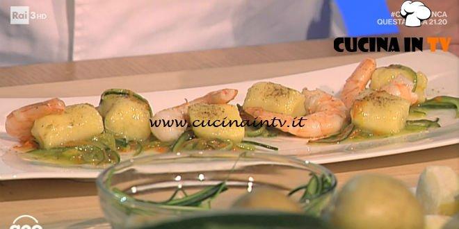 Geo - ricetta Gnocchi al limone con zucchine e mazzancolle di Beppe Maffioli