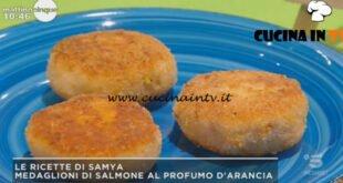 Mattino Cinque - ricetta Medaglioni di salmone al profumo d'arancia di Samya