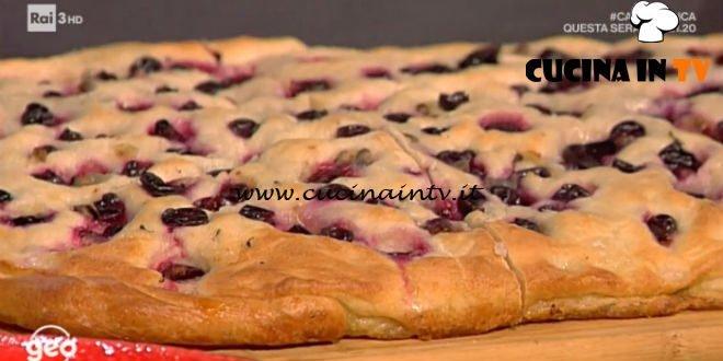 Geo - ricetta Schiacciata dolce con uva sangiovese di Alessandra Bazzocchi