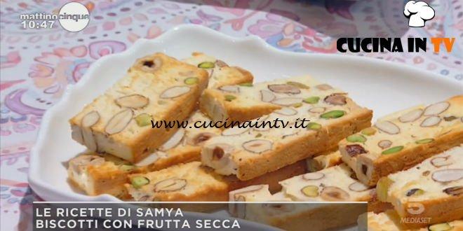 Mattino Cinque - ricetta Biscotti con frutta secca di Samya