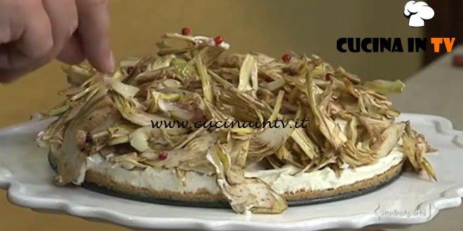 Cotto e mangiato - Cheesecake salata ai carciofi ricetta Andrea Mainardi