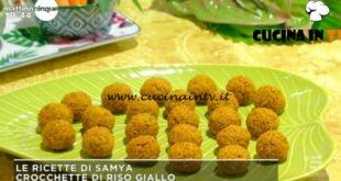 Mattino Cinque - ricetta Crocchette di riso giallo di Samya