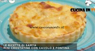 Mattino Cinque - ricetta Crostatine con cavolo e fontina di Samya