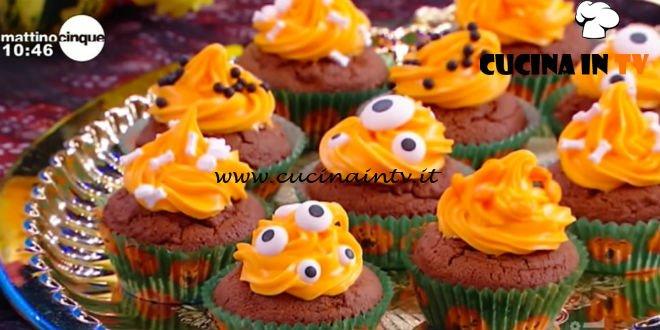 Mattino Cinque - ricetta Cupcake stregati di Halloween di Samya