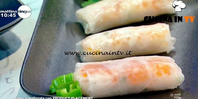 Mattino Cinque - ricetta Involtini primavera alla polpa di granchio di Samya