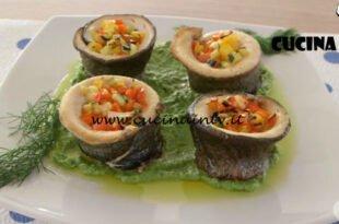 Ricette all'italiana - ricetta Turbante di trote con crema di piselli di Anna Moroni