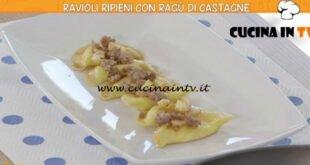 Ricette all'italiana - ricetta Ravioli ripieni con ragù di castagne di Marco Bottega