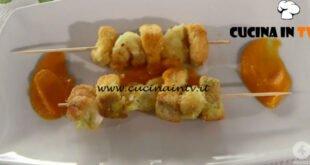 Ricette all'italiana - ricetta Spiedini di pesce su crema di zucca di Anna Moroni