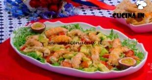 Mattino Cinque - ricetta Insalata tiepida di scampi e frutto della passione di Samya