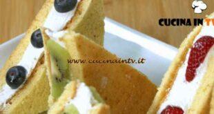 Fatto in casa per voi - ricetta Tramezzini gelato alla frutta di Benedetta Rossi
