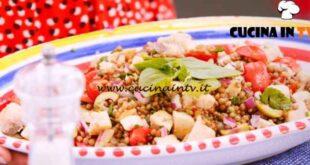 Giusina in cucina - ricetta Insalata di lenticchie con pesce spada di Giusina Battaglia