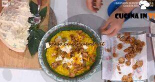 È sempre mezzogiorno - ricetta Risotto giallo con topinambur e zola di Sergio Barzetti